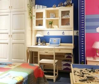 松堡王国,书桌,实木书桌