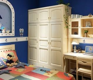 松堡王国,三门衣柜,实木衣柜