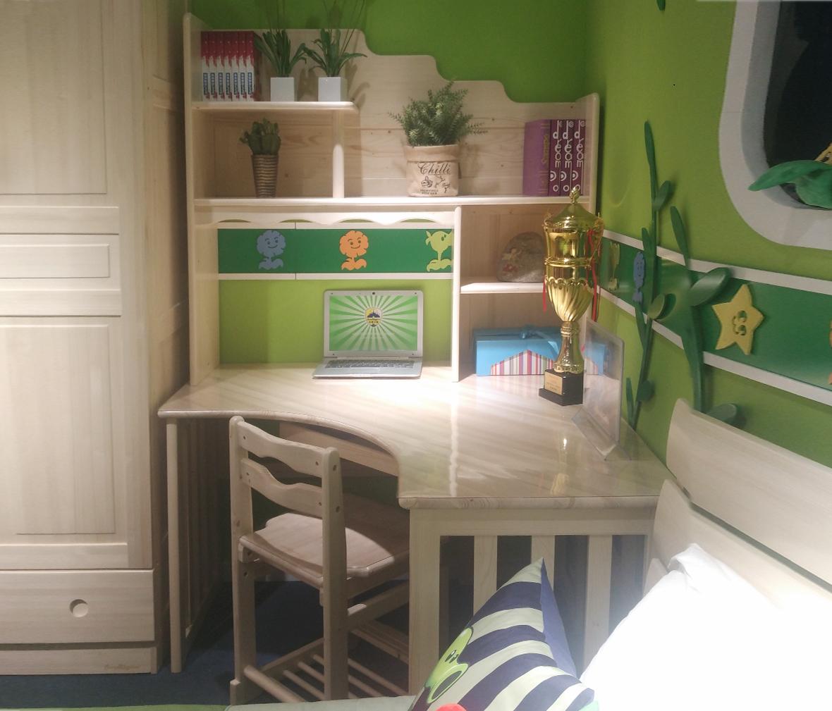 松堡王国spat002型号书桌进芬兰木材质桌子