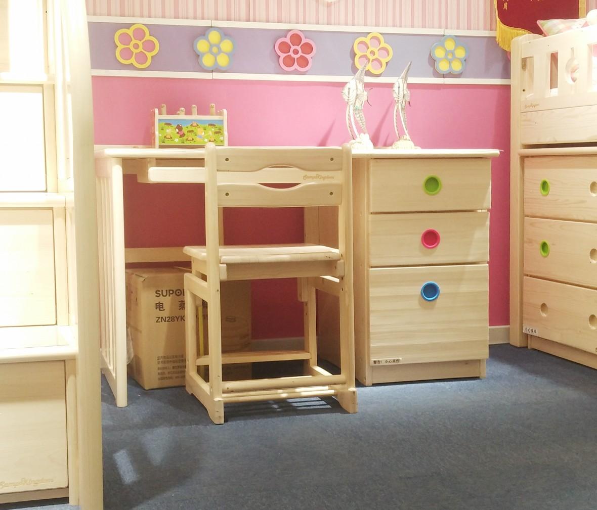 松堡王国 SP-A-T003L型号书桌 进口芬兰木材质书桌