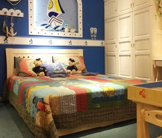 松堡王国,箱体床,实木箱床