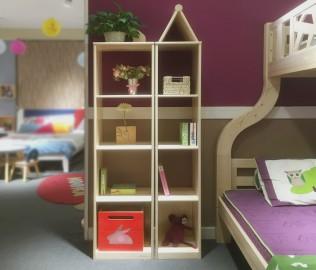 松果,城堡书架,实木书架