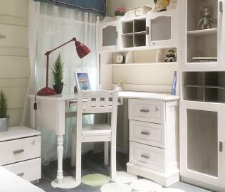 松果,转角书桌,实木书桌