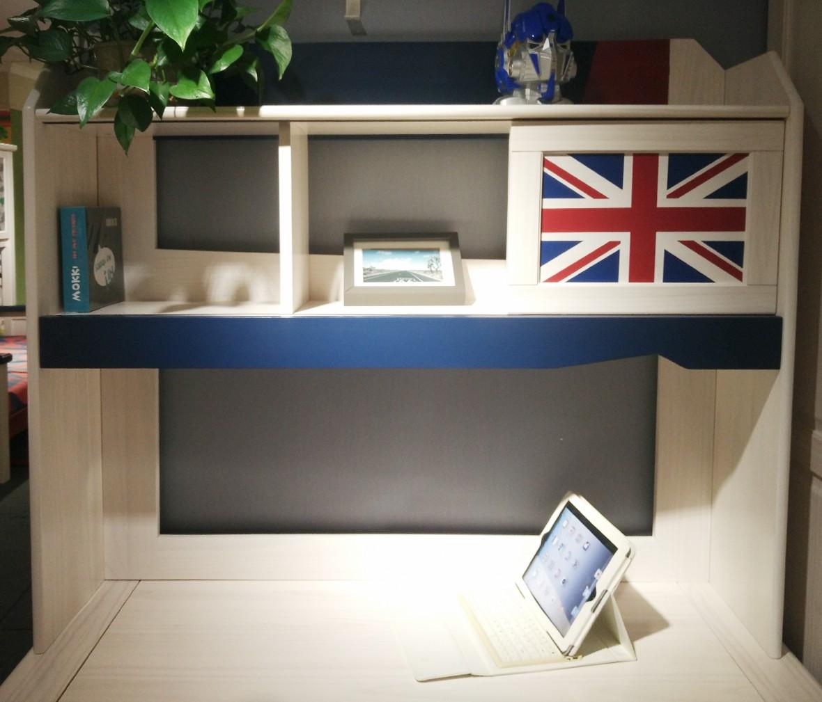 松果儿童家具 DNV02-12型号1.2米书桌上架 芬兰进口实木书桌上架