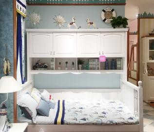 普罗城堡,功能床架,实木床