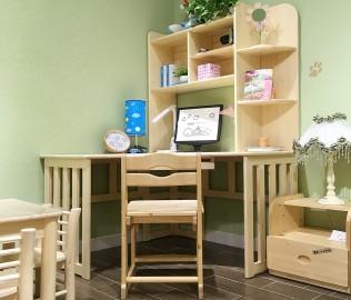 酷漫居,书桌,实木书桌
