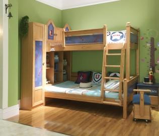 美墅馆,上下床,实木床