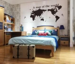 美墅馆,单床,实木床