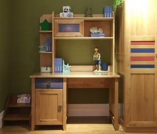 美墅馆,书桌上架,实木书架