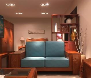 一品木阁,双人沙发,实木沙发