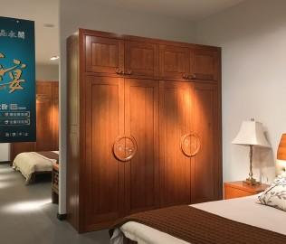 一品木阁,四门衣柜,实木衣柜