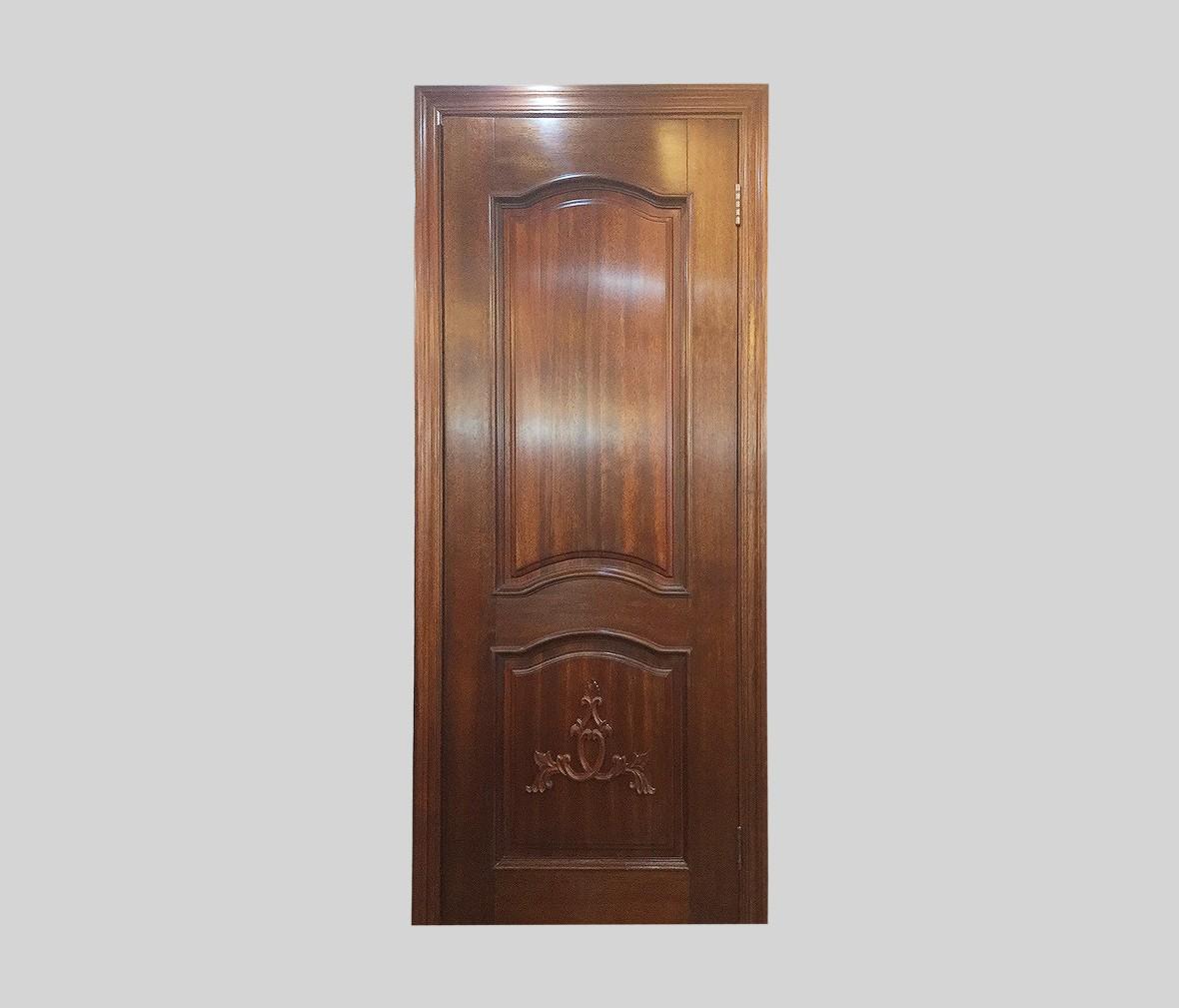大自然木门 DZR-12型号实木木门 腰板雕花门平口门 商品实拍