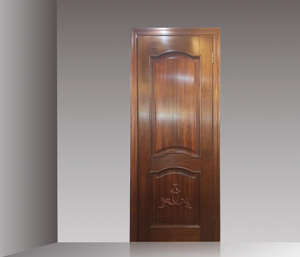 大自然木门 DZR-12型号实木木门 腰板雕花门平口门 商品情景