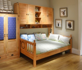 百强,儿童床,实木床