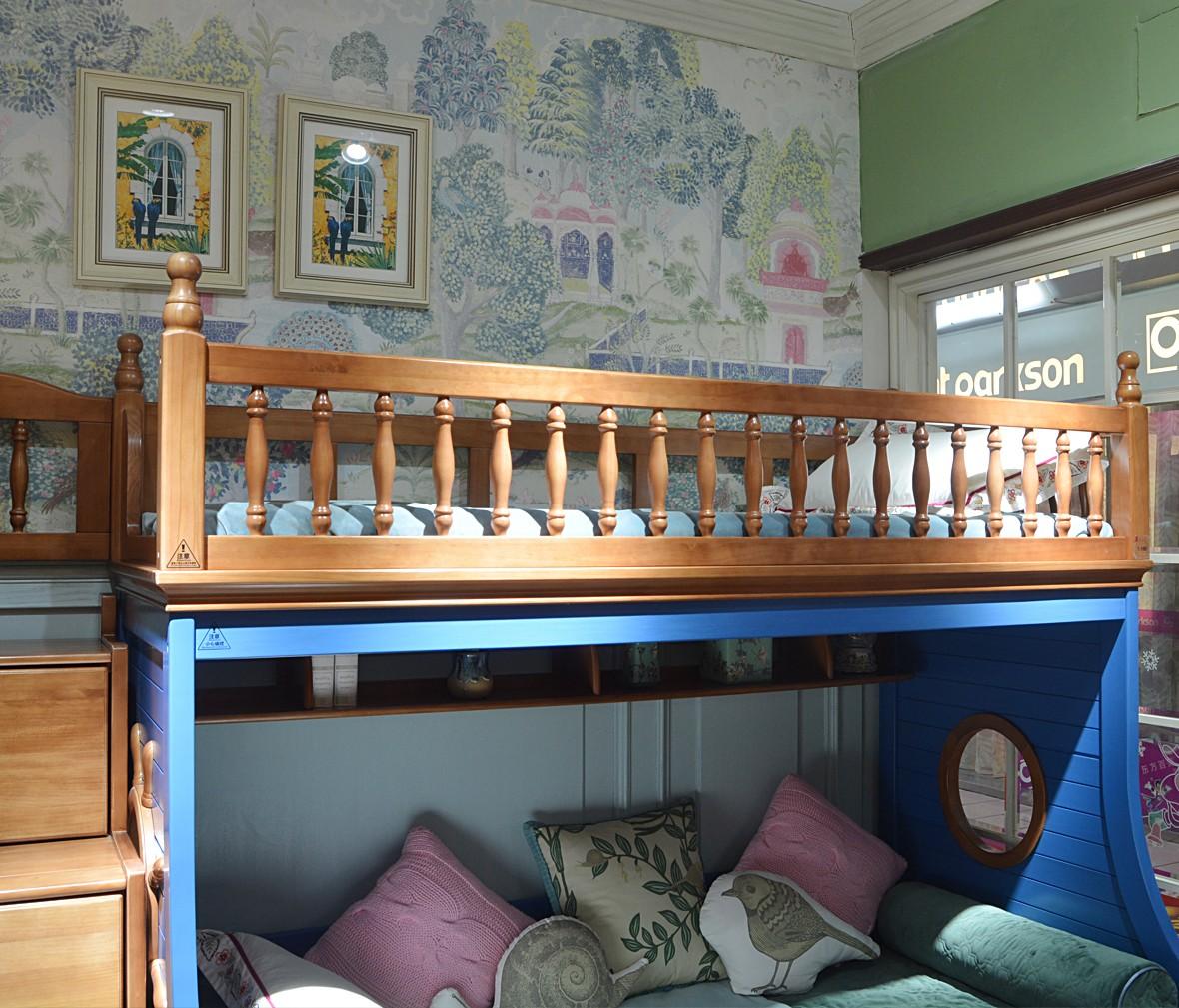 多喜爱W5 QTA102C-135+J601型号上下床 新西兰松材质床架 商品细节