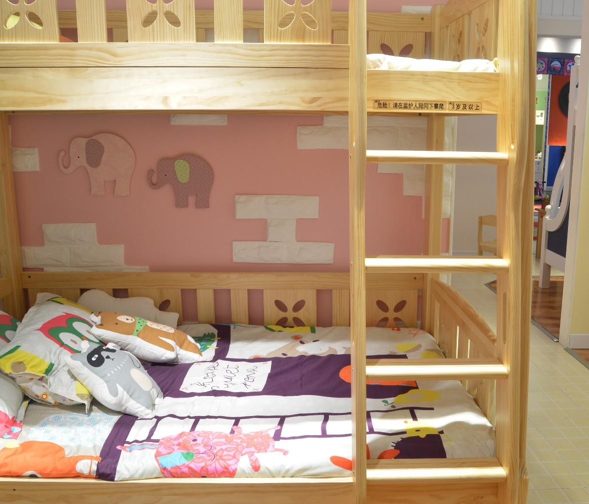 弋玛特儿童家具 C010-51A型号上下床 进口智利松材质儿童床 商品细节