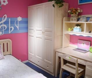 儿童家具,三门衣柜,实木衣柜