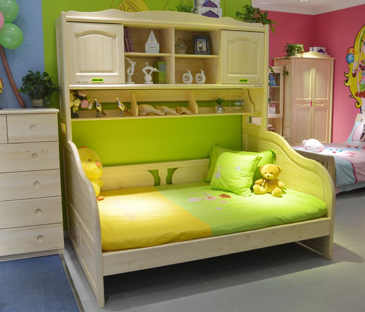 松堡王国 SP-A-C307S型号功能床 芬兰松木材质儿童家具 商品情景