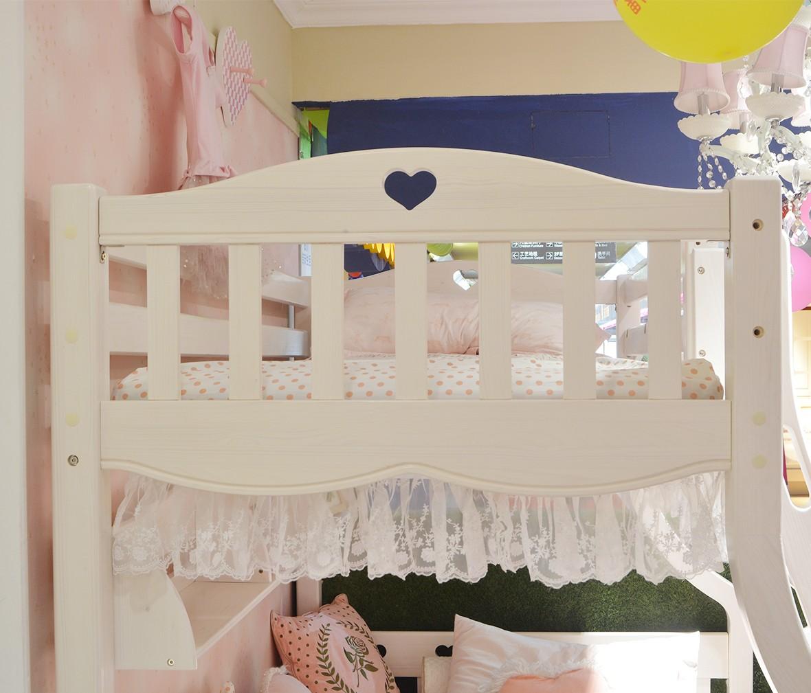 松果儿童家具 SA103X-135*20型号上下床 芬兰松材质儿童床 商品细节
