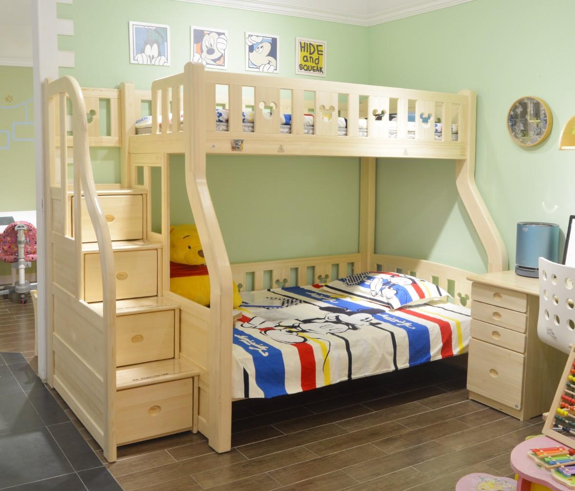 酷漫居儿童家具 KMS-A301-135.1型号上下床 芬兰松木材质 商品情景