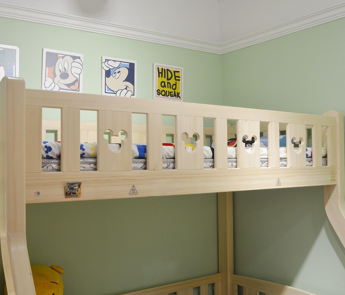 酷漫居儿童家具 KMS-A301-135.1型号上下床 芬兰松木材质 商品细节