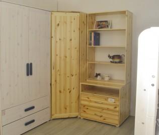 儿童家具,角柜,实木角柜