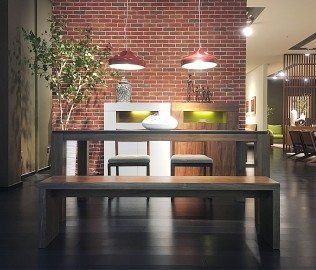 尚景家具,餐桌,板材餐桌