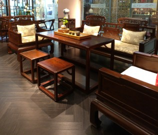 誉承堂,茶凳,实木家具