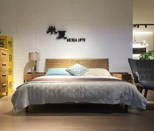 米夏,双人床,实木床