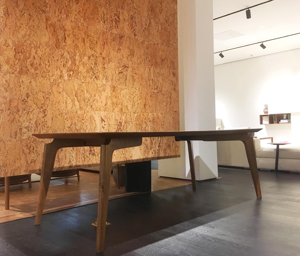 莫多家具  特价1.4米长桌  榄仁木材质长桌 现代简约风格