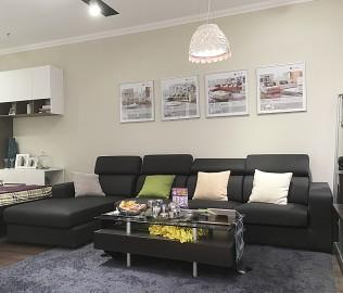 红苹果,转角沙发,客厅家具