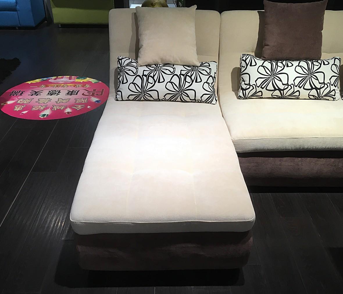 康德芙瑞 特价夏日奶茶型号沙发 现代简约布艺沙发