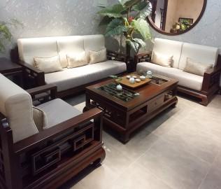 沙发,榆木,实木家具