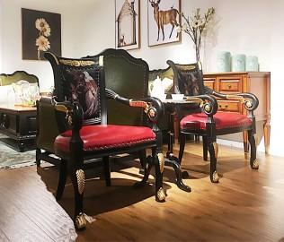 黎曼,装饰椅,实木椅子