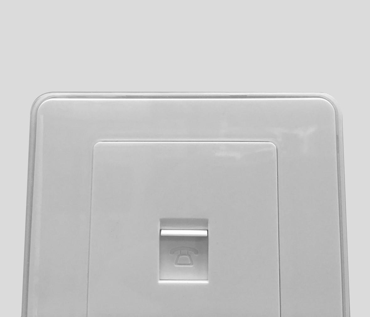 朗士照明 罗格朗逸典系列冰莹白电话插口 信号口 开关