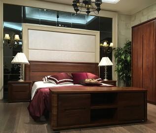 华日家居,双人床,卧室家具