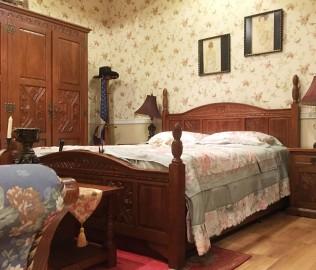 双人床,实木床,实木家具