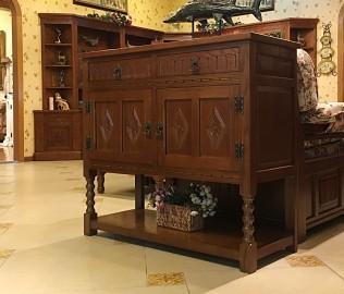 边柜,两门边柜,实木家具