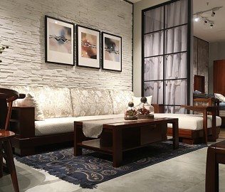 意风,沙发,实木家具