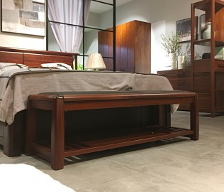意风家具,床尾凳,实木凳子