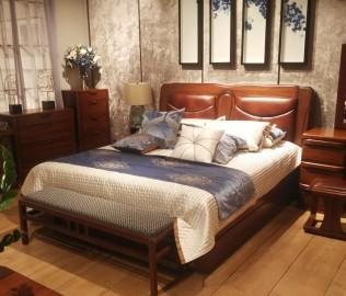 意风家具,双人床,床