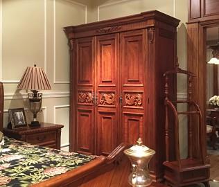 伯爵庄园,三门衣柜,实木衣柜