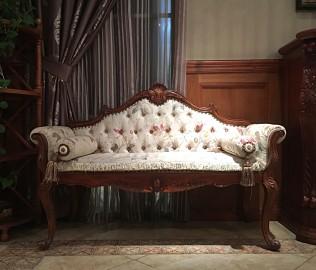 伯爵庄园,床前凳,实木家具