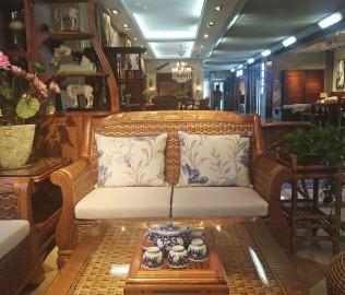 藤匠世家,沙发,双人沙发
