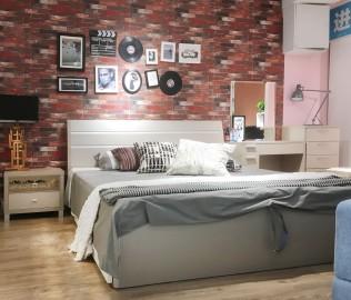 意风家具,床头柜,卧室家具