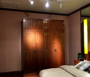 光明家具,实木衣柜,四门衣柜