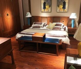 光明家具,实木凳,床尾凳
