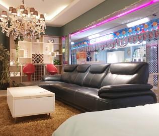东方百盛,皮沙发,客厅家具