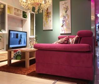 东方百盛,布艺沙发,客厅家具