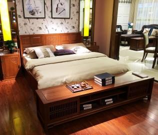 光明家具,实木床,双人床